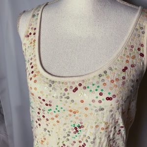 Banana Republic Multi-Color Sequin Tank Top - M
